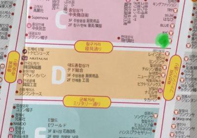 ソファカバーの店の地図
