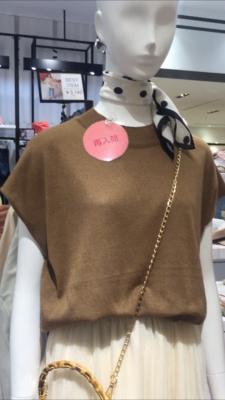 dholic茶色ニット半袖
